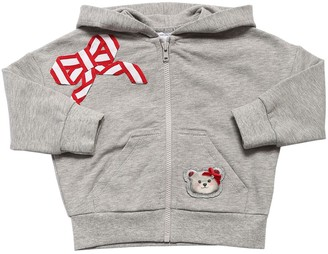 MonnaLisa Zip-up Cotton Blend Sweatshirt