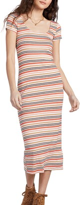 Billabong Mid Day Stripe Short Sleeve Knit Dress