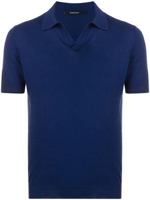 Tagliatore Plain Short-Sleeved Polo Shirt