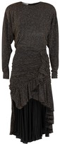 Philosophy di Lorenzo Serafini Glittered Polka-dot Ruffle-trimmed Dress