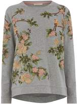 Oasis blossom embroidered sweat