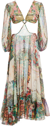 Alexis Charisse Cutout Crepe Midi Dress