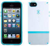 Speck CandyShell White/Pebble Grey/Peacock Blue Flip for iPhone 5