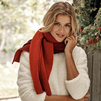 Summersalt The Coziest Cashmere Blend Ribbed Scarf - Pinot & Lava