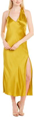 Mason by Michelle Mason Gathered Silk Slip Dress