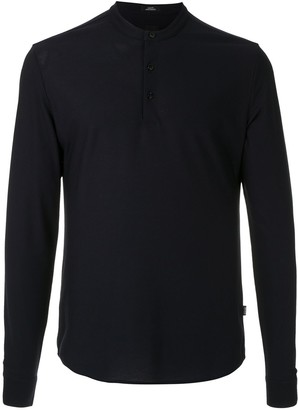 BOSS Henley slim-fit shirt
