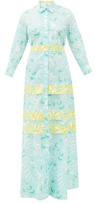 Evi Grintela Dahlia Paisley-print Cotton Shirt Dress - Blue Print