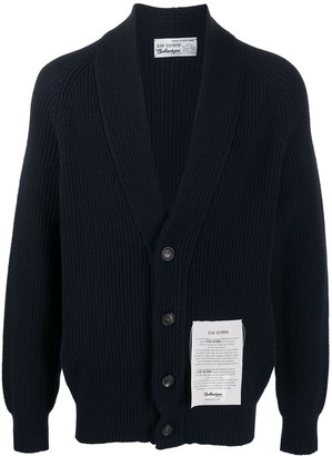 Ballantyne Ribbed Cashmere Knit Cardigan