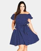 City Chic Sweet Off-Shoulder Dress