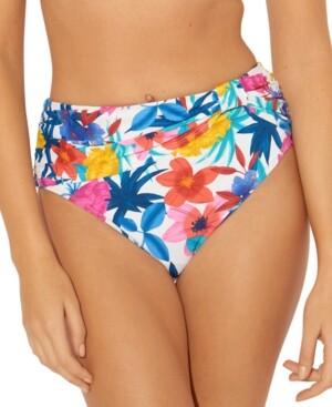 BLEU by Rod Beattie Draped High-Waist Bikini Bottoms Women's Swimsuit