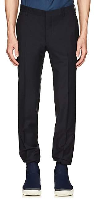 Prada Men's Plain-Weave Wool-Mohair Slim Trousers - Navy