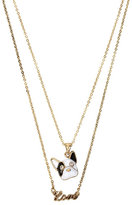 Betsey Johnson Betsey Gifting Puppy Love 2 Row Necklace