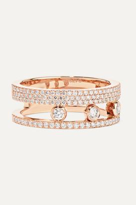 Messika Move Romane 18-karat Rose Gold Diamond Ring - 54