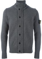 Stone Island band collar cardigan
