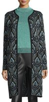M Missoni Peacock Jacquard Topper Jacket, Black