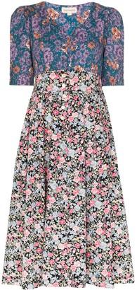 Dragon Optical Lady Floral Print Dress