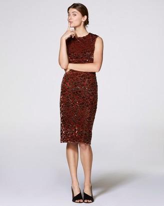Vince Camuto Velvet Sequin Dress