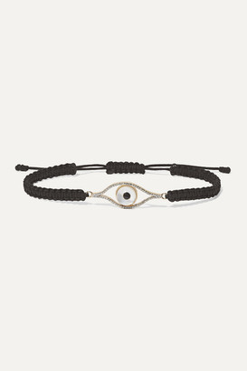 Mateo - 14-karat Gold, Cord And Multi-stone Bracelet