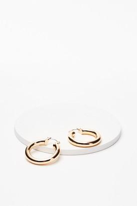 Nasty Gal Womens What's the 411 Hoop Earrings - Gold