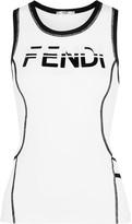 Fendi Stretch-jersey Tank - White