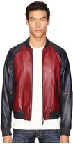 DSQUARED2 American Road Trip Leather Jacket Men's Coat