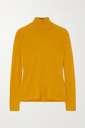 Gabriela Hearst Costa Cashmere And Silk-blend Turtleneck Sweater - Saffron