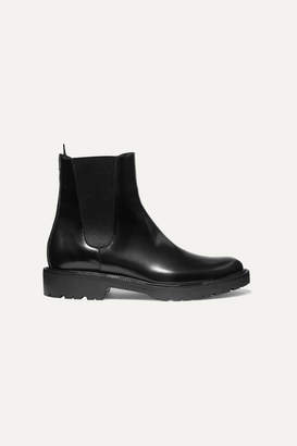 Dries Van Noten Glossed-leather Chelsea Boots - Black
