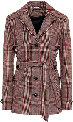 Miu Miu Checked wool-blend jacket