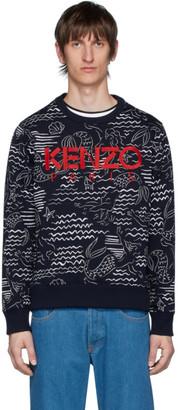 Kenzo Navy Mermaids Sweatshirt