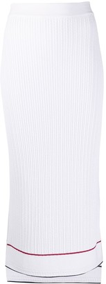 Thom Browne Baby Cable Below The Knee Slip Skirt In Viscose Elite