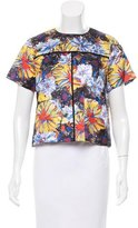Suno Floral Print Silk Top