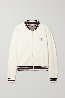 Tory Sport Embroidered Pique Jacket - Off-white