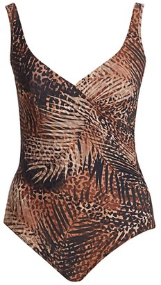 Miraclesuit Swim, Plus Size Tigris It's A Wrap Printed One-Piece Swimsuit