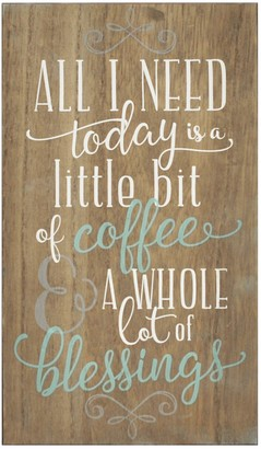 Stratton Home Brown Coffee & Blessings Wall Art