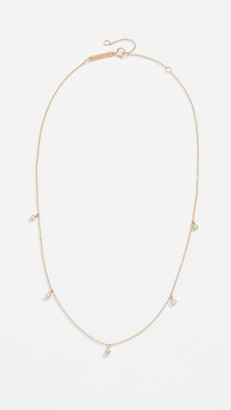 Zoë Chicco 14k Gold Five Diamond Chain Choker Necklace