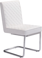 ZUO Set Of 2 Quilt Armless Dining Chairs