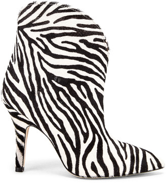 Paris Texas Pony Ankle Boot in Zebra | FWRD