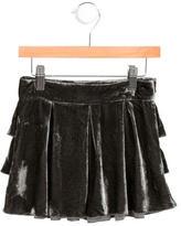 Little Marc Jacobs Girls' Velvet Tiered-Accented Skirt