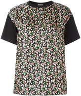 Moncler floral print front panel T-shirt - women - Silk/Cotton - S
