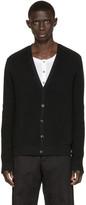 Pierre Balmain Black Cotton Cardigan