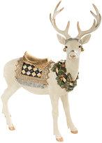 Mackenzie Childs Standing Winter White Stag Ornament