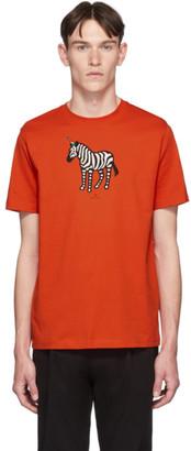 Paul Smith SSENSE Exclusive Red Zebra Regular Fit T-Shirt