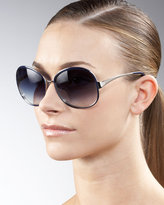Racy Enamel & Metal Sunglasses