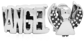 Rhona Sutton 4 Kids Children's Angel Bead Charms - Set of 2 in Sterling Silver