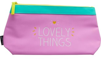 clear Happy Jackson Womens Lovely Things Wash Bag Pink