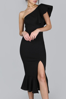 House of Atelier One Shoulder Dress
