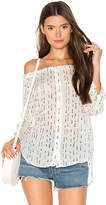 Bella Dahl Off the Shoulder Top in White. - size L (also in M,S,XS)