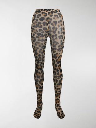 Junya Watanabe Leopard-Print High-Waisted Tights