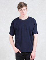 Diesel Black Gold Taster-gasset Blue Denim Knit Effect T-Shirt
