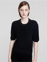 Calvin Klein Collection Cashmere Relaxed Short Sleeve Sweater